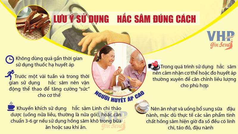sử dụng hắc sâm cho người huyết áp cao